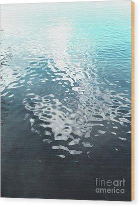 Liquid Blue Wood Print