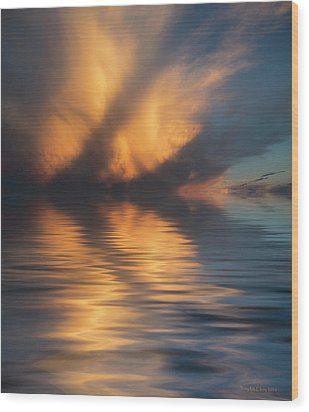 Liquid Cloud Wood Print by Jerry McElroy
