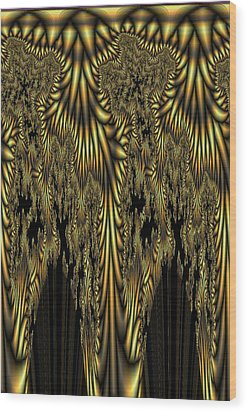 Liquid Gold Wood Print
