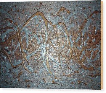Liquid Metal Wood Print by Daniel Lafferty