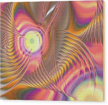 Wood Print featuring the digital art Liquid Rainbow by Anastasiya Malakhova