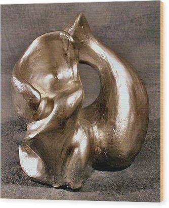 Liquid Silver Wood Print by Lonnie Tapia