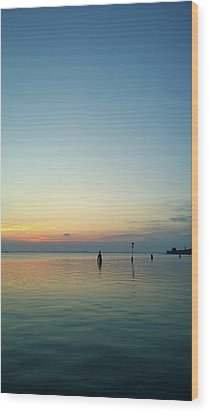 Wood Print featuring the photograph Liquid Sunset by Anne Kotan
