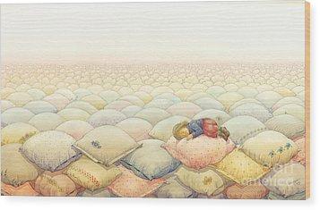Lisas Journey03 Wood Print by Kestutis Kasparavicius