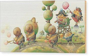 Lisas Journey05 Wood Print by Kestutis Kasparavicius