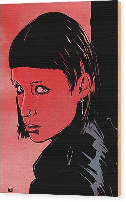 Lisbeth Salander Mara Rooney Wood Print