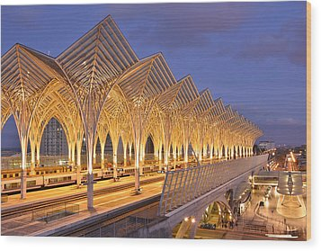 Wood Print featuring the photograph Lisbon Gare Do Oriente by Marek Stepan