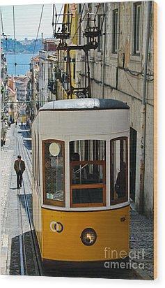 Lisbon - Portugal - Elevador Da Bica Wood Print