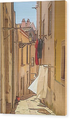 Lisbon Street #2 Wood Print