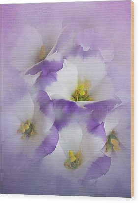 Wood Print featuring the photograph Lisianthus Grouping by David and Carol Kelly