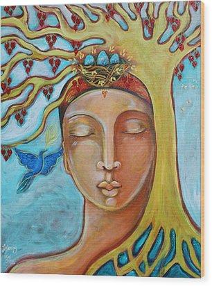 Listening Wood Print by Shiloh Sophia McCloud