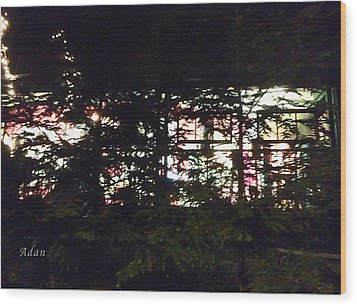 Lit Like Stained Glass Wood Print by Felipe Adan Lerma