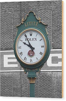 Lititz Clock Wood Print