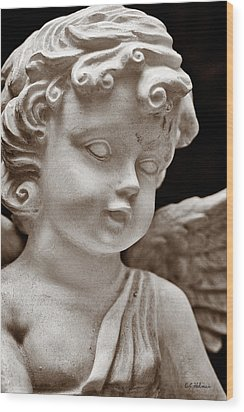Little Angel - Sepia Wood Print by Christopher Holmes