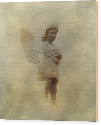 Little Angel In The Clouds Wood Print by Bill Cannon