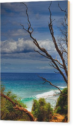 Little Beach Maui Wood Print