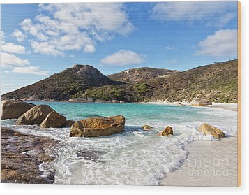 Wood Print featuring the photograph Little Beach Two Peoples Bay Nature Reserve by Ivy Ho