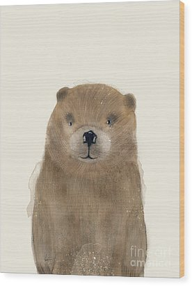 Wood Print featuring the painting Little Beaver by Bri B