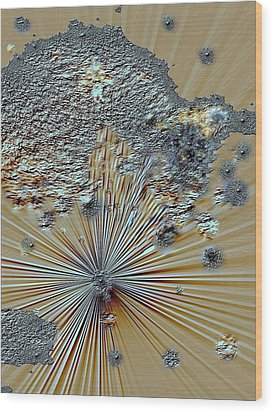 Wood Print featuring the digital art little Big Bang by Sherri  Of Palm Springs