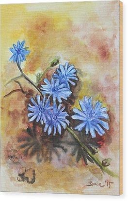 Little Blues Wood Print by Jana Goode