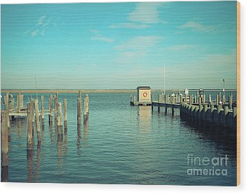 Wood Print featuring the photograph Little Boat House On The River by Colleen Kammerer