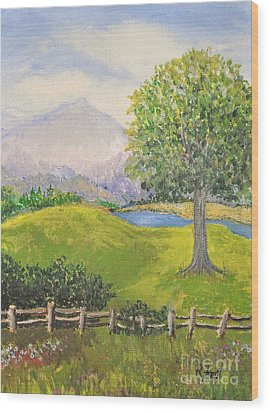 Little Country Scene Too Wood Print by Reb Frost