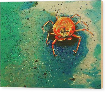 Little Crab Wood Print by Heather  Gillmer