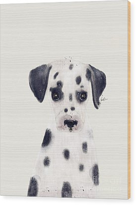 Wood Print featuring the painting Little Dalmatian by Bri B