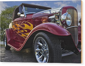 Little Deuce Coupe Wood Print