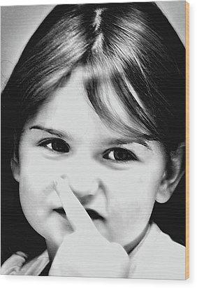 Little Emma Wood Print by Rena Trepanier