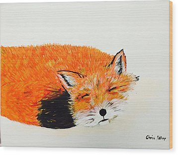 Little Fox Wood Print