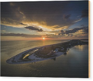 Little Gasparilla Island Point Sunset Wood Print by Nick  Shirghio