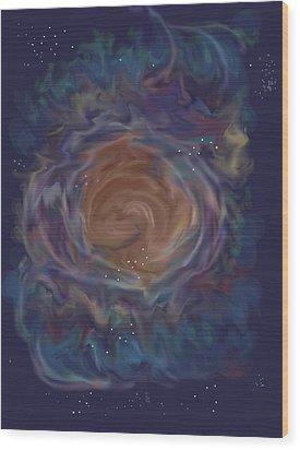 Little Ghost Nebula Wood Print by Anne Norskog