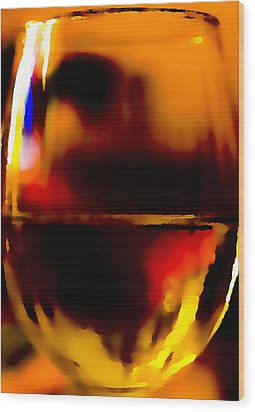 Little Glass Of Wine Wood Print by Stephen Anderson