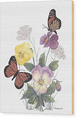 Little Heartsease Wood Print by Stanza Widen