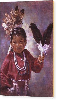 Little Hopi Dancer Wood Print