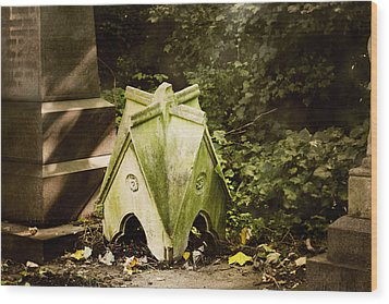 Little House In The Woods Wood Print by Helga Novelli