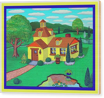 Little House On The Green Wood Print by Snake Jagger