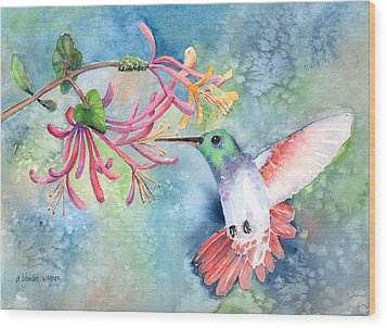 Little Hummingbird Wood Print by Arline Wagner