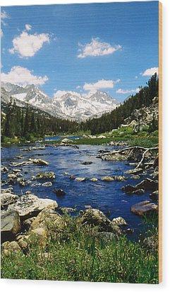 Little Lake Wood Print by Gary Brandes