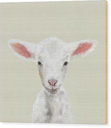 Little Lamb Wood Print