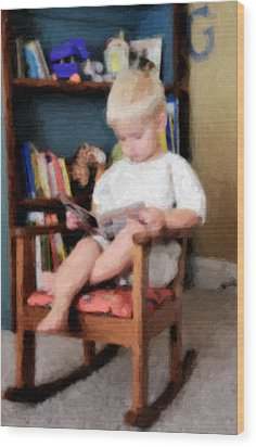 Little Learner Wood Print by Lyle  Huisken