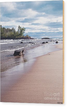 Little Presque Isle Wood Print by Phil Perkins