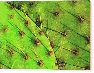 Prickly Pear Wood Print by Paul Wear