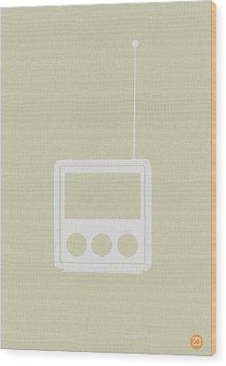 Little Radio Wood Print by Naxart Studio