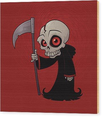 Little Reaper Wood Print by John Schwegel