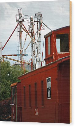 Little Red Caboose Wood Print by Jame Hayes
