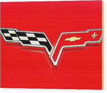 Little Red Corvette Wood Print by Kevin D Davis