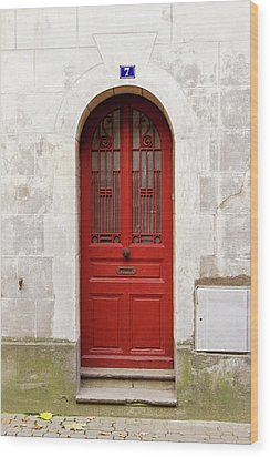 Wood Print featuring the photograph Little Red Door by Melanie Alexandra Price