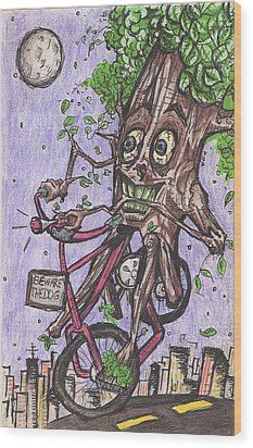 Little Red Riding Wood Wood Print by Jeremiah Strickland